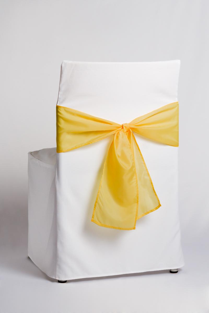 žltá mašľa biely návlek